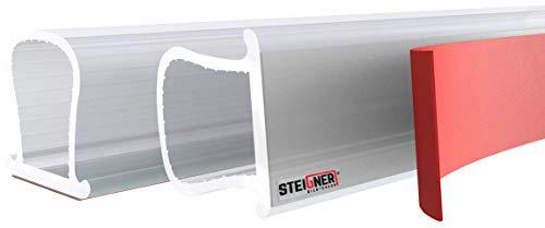 STEIGNER Fensterdichtung Türdichtung Gummidichtung aus Silikon, 10m, Omega- Profil, SFD01