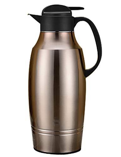 SJQ-coffee pot ThéIèRe EuropéEnne en Acier Inoxydable, Isolation de Grande Capacité avec Bec Verseur, avec ProcéDé de Peinture, pour Bureau à Domicile, 10/12 Tasse, Multicolore