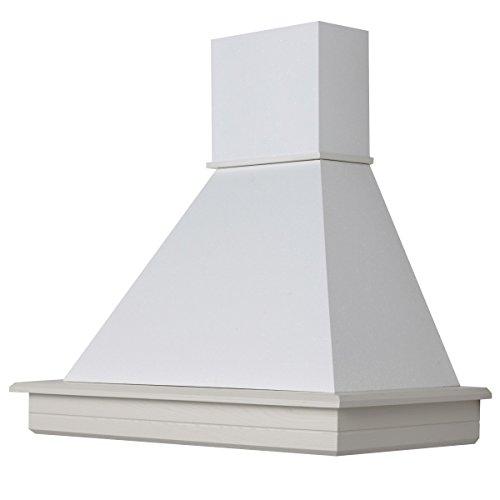 Cappa cucina legno 90 frassino bianco decape  con motore Faber