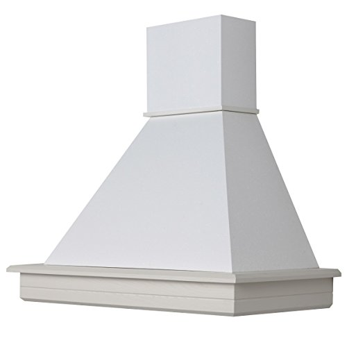 Cappa cucina legno 90 frassino bianco decape' con motore Faber