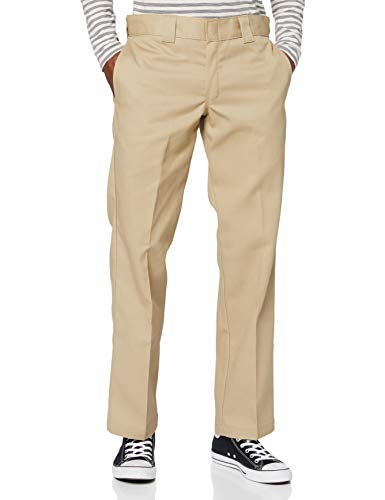 Dickies Slim Fit Straight - Pantalones para hombre, Beige (Caqui), W33/L32