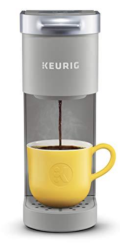 Keurig K-Mini Coffee Maker, Certified Refurbished, Single Serve K-Cup Pod Coffee Brewer, 6 to 12 oz. Brew Sizes, Studio Gray (Renewed)
