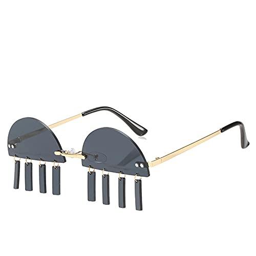 Powzz ornament Gafas de sol graduadas sin montura punk para mujer, nueva moda, montura pequeña, gafas de sol sin montura, gafas Vintage elegantes para mujer, UV400-1_China