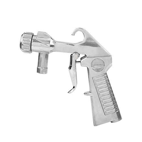 Pistola de chorro de arena, manguera de sifón Disparador de chorro de arena de aluminio fundido Dispositivo de pulverización tipo pistola de barril corto de mano Boquilla de cerámica Chorro
