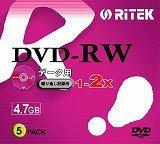 RITEK DVD-RW データ用 4.7GB 5枚 2倍速対応 スリムケース D-RW2X5PB