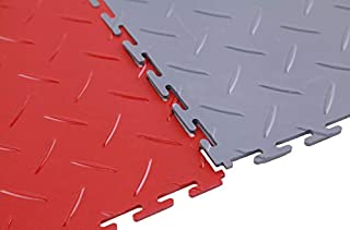 IncStores Diamond Flex Garage and Shop Multi-Purpose Flooring Tiles 20.5