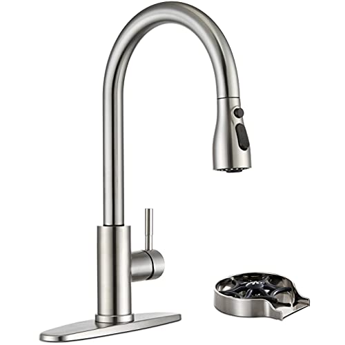 Kitchen Sink Faucet with Glass Rinser