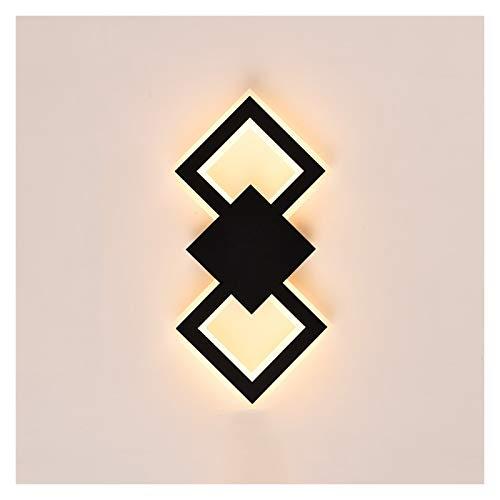 Lámpara de pared Moderna Minimalista Lámpara de pared de la cabecera LED Dormitorio LED Sala de estar Wall Sconte Lámparas Lámparas de Pasillo Corredor Creativo Lámpara de pared Acrílico Lámpa