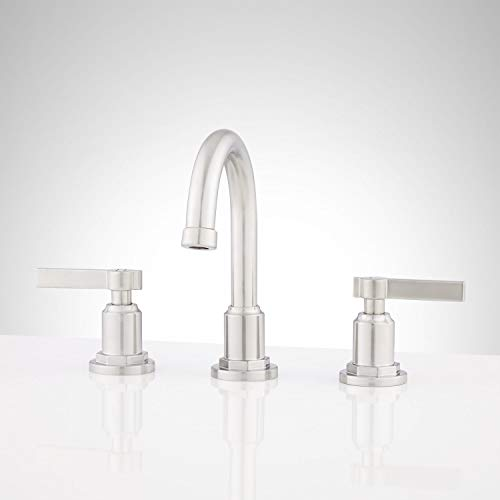 Signature Hardware 948591 Greyfield 1.2 GPM Widespread Bathroom Faucet with Pop-Up Drain Assembly