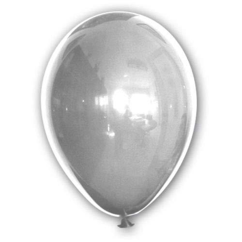 BWS- Palloncini Metallizzati, Colore Argento, 13 cm, RR5M38