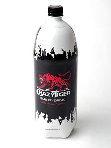 Crazy Tiger Boisson energisante cafeine/taurine/vitamines la bouteille de 1,5 l