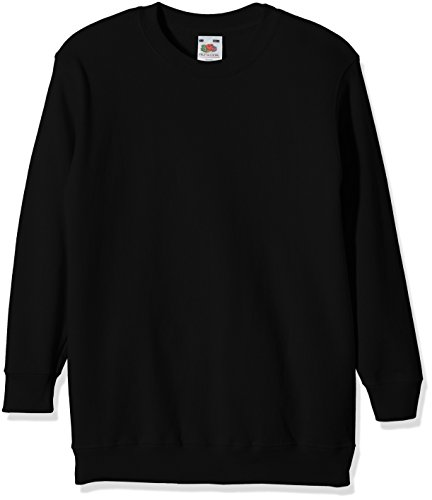 Fruit of the Loom, Sudadera Infantil, Negro (Schwarz - Schwarz), 9-11 Años