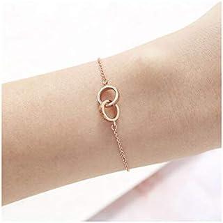 Olivia Burton Women'S Brass Rose Gold Chain Bracelets -OBJENB13B
