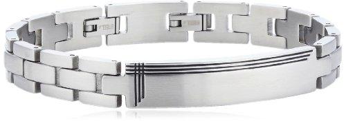 s.Oliver Herren-Armband Edelstahl mattiert 22 cm