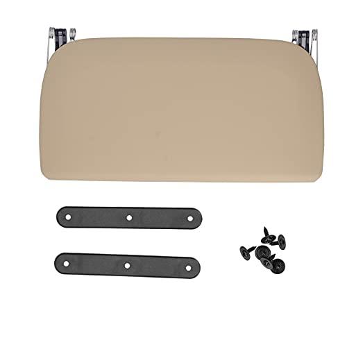 Panel de ajuste trasero de asiento de coche Panel de ajuste trasero de asiento de cuero artificial adecuado para 5 7 Series F07 F10 F11 F18 F01(de color crema)