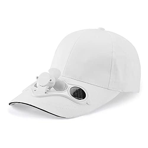 Solarbetriebene Kappe für Herren und Damen Cap Solar Ventilator Sommer Outdoor Kappe mit Lüfter Schatten für Tennis Golf Camping Baseball Sport Hut