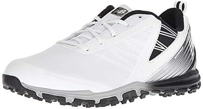 New Balance Men's Minimus SL Waterproof Spikeless Comfort Golf Shoe, 8 2E 2E US, white/black