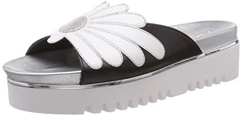 Gerry Weber Shoes Ancona 01, Sandali con Zeppa Donna, Nero (Schwarz-Multi 102), 38 EU