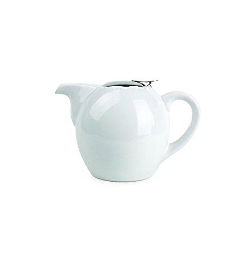 Visiodirect Théière Blanche avec Filtre en Porcelaine 0,35l