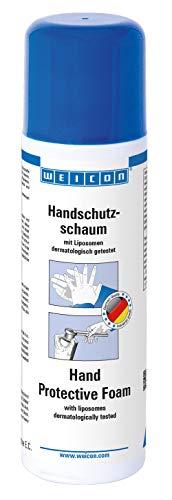 WEICON Handschutzschaum 200 ml Schaum, Flüssiger Durchsichtiger Wasserfester Handschuh, Dermatologisch Getestet