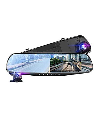 ACD Car Dvr HD 1080P Grabador de Video con Espejo Grabador de Video con Espejo retrovisor Pantalla de Fecha y Hora Dash CAM Car(Color:b,Size:32GB)