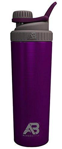 AeroBottle Primus - Botella de agua (pared simple, no aislada), diseño de tapa de rosca, 32 onzas, medianoche