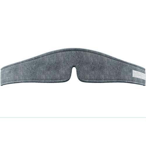 Snuggle-Pedic Cooling Sleep Mask with Charcoal & Gel-Infused Memory Foam - Light Blocking Eye Covers for Sleeping - Great Blackout Masks for Men, Women & Kids