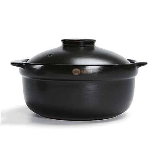 CeráMica Hot Pot Cazuela Olla De Sopa Mango De Olla Ensamblado Y Engrosado, Resistencia A Alta Temperatura, Antideslizante Y Anti-Escaldada.-2300ml