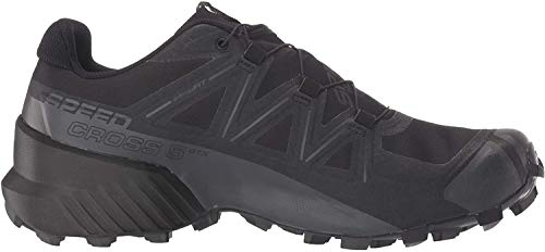 Salomon Men's Speedcross 5 GTX Trail Running, Black/Black/Phantom, 10.5