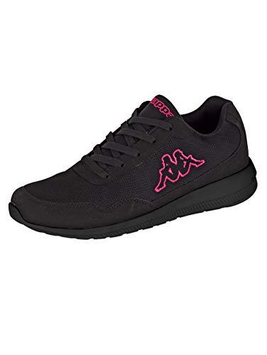 Kappa FOLLOW OC | Freizeit-Sneakers für Frauen und Männer | super-leicht, modisch und zeitlos | angenehmes Tragegefühl | atmungsaktiv, Größe 36 - 461122 black/pink, Größe 41