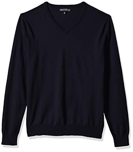J.Crew Mercantile Men's Long-Sleeve Cotton V-Neck Sweater, Navy, S