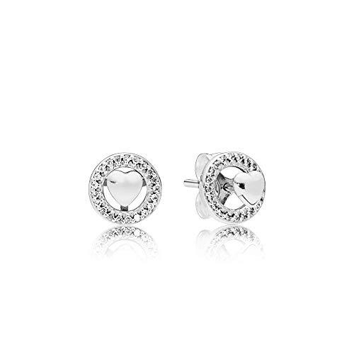 Pandora Pendientes de botón Mujer plata - 297709CZ