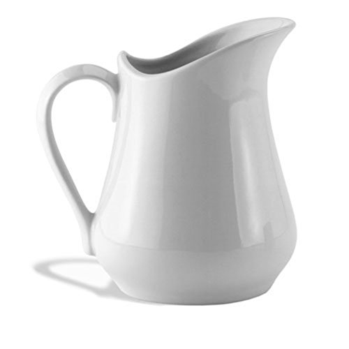 HIC Creamer Pitcher with Handle, Fine White Porcelain, 4-Ounces