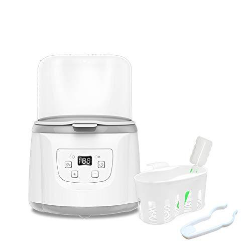 ABHF 5 in 1 Baby sterilisator Flaschenwärmer mit Trocknungsfunktion, Platz für bis zu 2 Babyfläschen, LCD-Anzeige, Warmhaltefunktion und Auftauen Dampfsterilisator