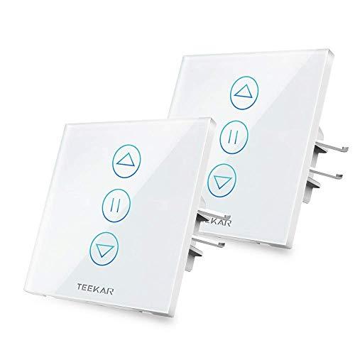 [4th Generation] TEEKAR XShutter - Smart Rolladen Zeitschaltuhr Mit Prozentkontrolle (2 Packungen)