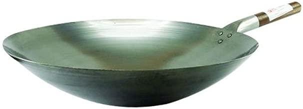 chinoise Ø 33 cm Rond Sol Asiatiques Fer Poêle//de cuisine chinoise//Poêle