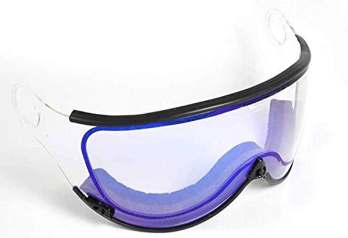 ALPINA Ersatzvisier für Visier-Skihelm (Farbe: Visier für Jump 2.0 JV: A25 White Hybrid Mirror orange/Silber)