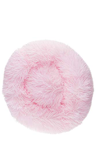 Soft Plush Dog or Cat Donut Bed, Perfect Size for Any Space, Comfortable Cushion for Your Pet, Convenient, Light Weight, Calming & Ultra Soft, Washable, Small, Pink