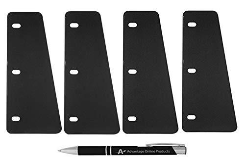 4 Pack Wilson Jones Sheet Lifters, Durable Easy Flow I, 55 Gauge, Black, 4 Each, (W364-99) with Bonus AdvantageOP Black and Chrome Retractable Pen