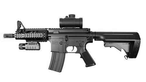 Double Eagle Fucile Airsoft-M805A2 M4 plastica Rinforzata ABS/Colore Nero/Elettrico (0,5 Joule) -Semi/Full Automatic