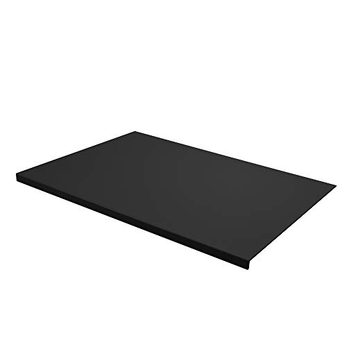Eglooh - Talia - Protector Mesa Escritorio en Cuero Negro cm 70x50 - Diseño Moderno, Antideslizante, Estructura Interna en Acero con Perfil Frontal en Forma de L - Hecho en Italia