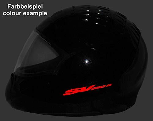 SUPERSTICKI 2X Suzuki SV 650 S typ3 Helmaufkleber ca 15cm Motorrad Bike Motorcycle Aufkleber Bike Auto Racing Tuning aus Hochleistungsfolie Aufkleber Autoaufkleber Tuningaufkleber Hochleist