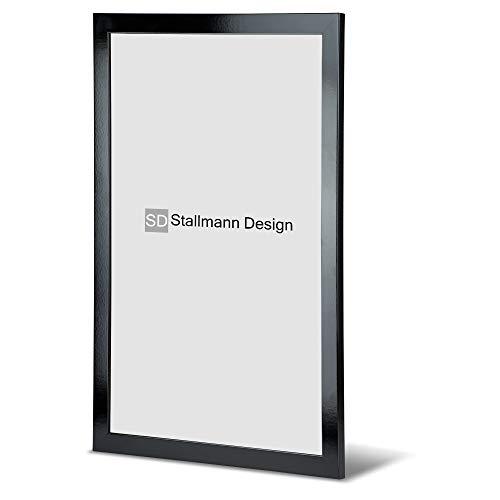 Stallmann Design Bilderrahmen New Modern 70x100 cm schwarz Hochglanz Rahmen Fuer Dina 4 und 60 andere Formate Fotorahmen Wechselrahmen aus Holz MDF mehrere Farben wählbar Frame für Foto oder Bilder