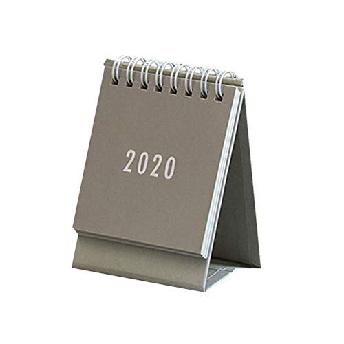 Toyvian 2020 mini calendario da tavolo bobina da tavolo calendario da tavolo stand up calendario...
