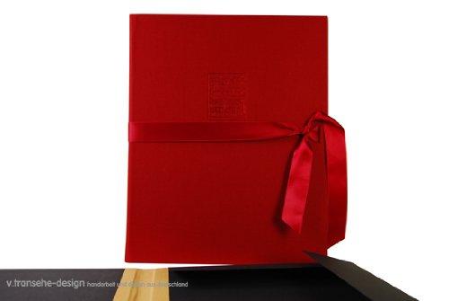 v. transehe design Spannmappe Noten Bordeaux