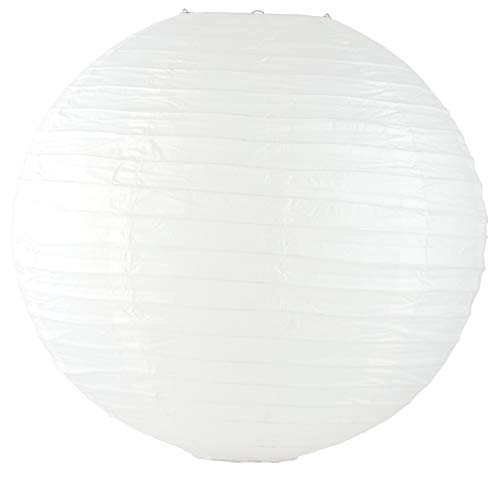 Weddingstar Round Paper Lantern, 20', White
