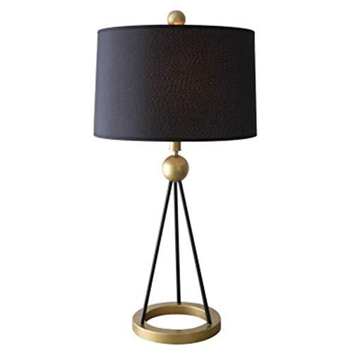 Sqqslzy Lámpara de mesa dormitorio de noche lámpara de cama Lámpara de mesa de la sala de estar caliente luz cálida americana lámpara de mesa
