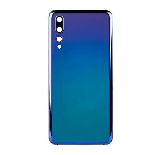 カバーバックグラスオリジナルの新しいフィットFit For OPPO REALME X2バックバッテリーカバーリアハウジングドアガラスケース+カメラレンズ バッテリーカバー (Color : Blue)