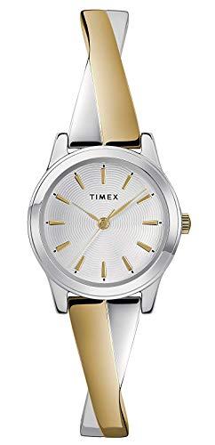 Timex Orologio Analogico Quarzo Donna con Cinturino in Acciaio Inox TW2R98600