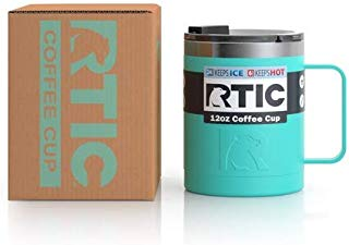 RTIC Double Wall Vacuum Insulated 12oz Coffee Cup, Matte Teal New Gen